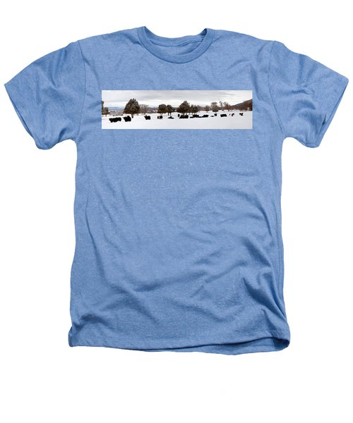 Herd Of Yaks Bos Grunniens On Snow Heathers T-Shirt by Panoramic Images