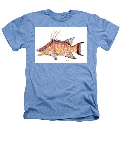 Hog Fish Heathers T-Shirt by Carey Chen
