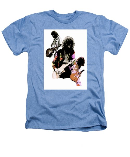 In Flight Iv Jimmy Page  Heathers T-Shirt by Iconic Images Art Gallery David Pucciarelli