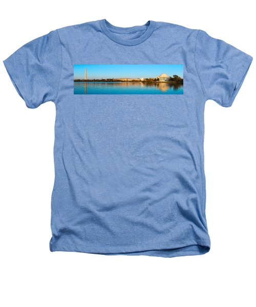 Jefferson Memorial And Washington Heathers T-Shirt by Panoramic Images