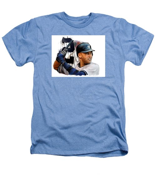 Jeter II  Derek Jeter Heathers T-Shirt by Iconic Images Art Gallery David Pucciarelli