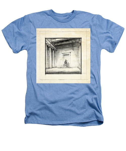 Lincoln Memorial Sketch IIi Heathers T-Shirt by Gary Bodnar