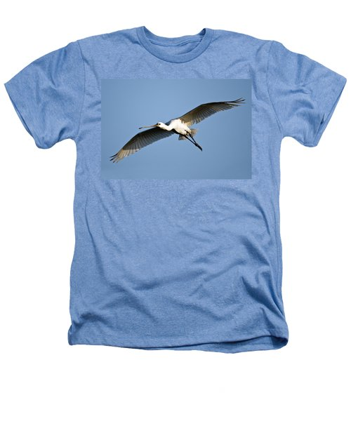 Low Angle View Of A Eurasian Spoonbill Heathers T-Shirt by Panoramic Images
