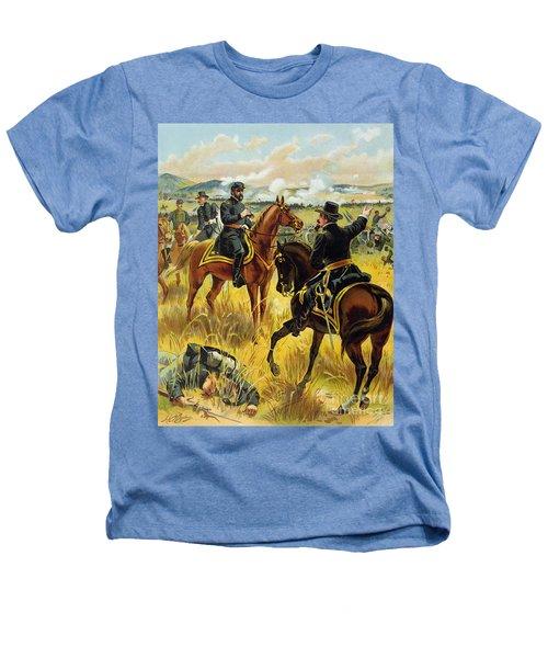 Major General George Meade At The Battle Of Gettysburg Heathers T-Shirt by Henry Alexander Ogden