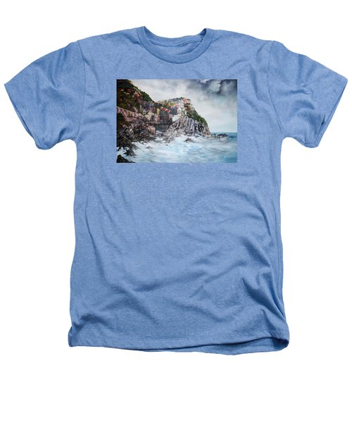 Manarola Italy Heathers T-Shirt by Jean Walker
