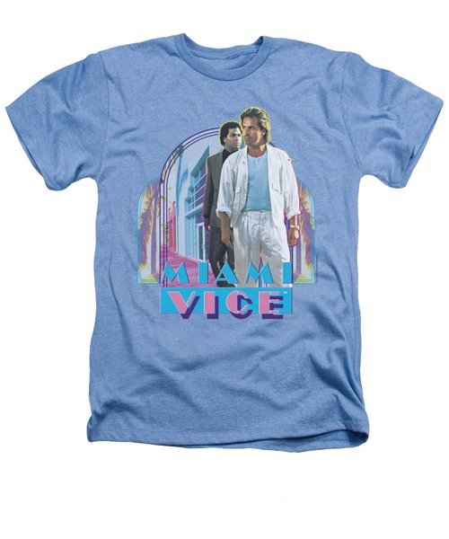 Miami Vice - Miami Heat Heathers T-Shirt by Brand A