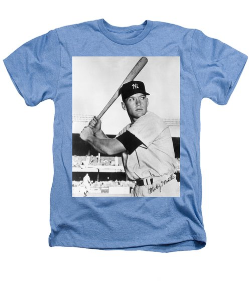 Mickey Mantle At-bat Heathers T-Shirt by Gianfranco Weiss