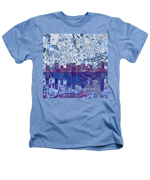 Nashville Skyline Abstract 8 Heathers T-Shirt by Bekim Art