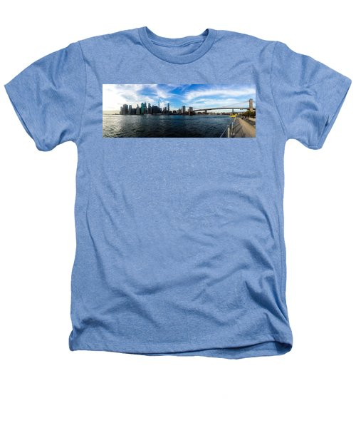 New York Skyline - Color Heathers T-Shirt by Nicklas Gustafsson