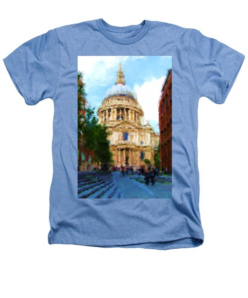 On The Steps Of Saint Pauls Heathers T-Shirt by Jenny Armitage