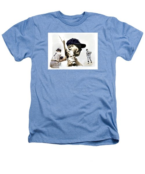 Quality Of Greatness Mickey Mantle Heathers T-Shirt by Iconic Images Art Gallery David Pucciarelli