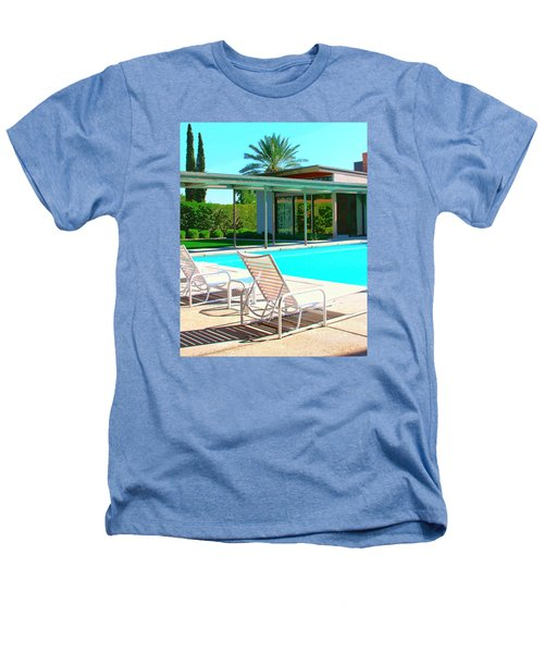 Sinatra Pool Palm Springs Heathers T-Shirt by William Dey
