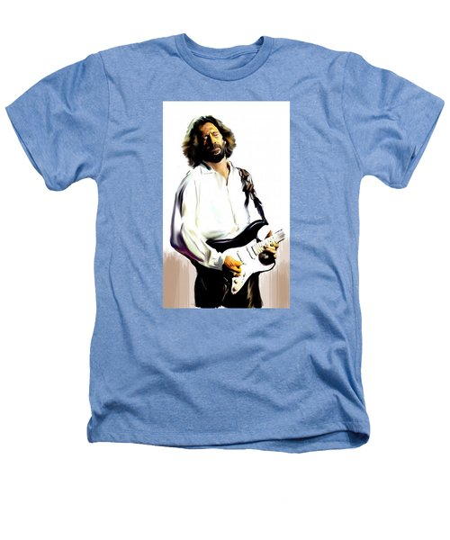 Slow Hand  Eric Clapton Heathers T-Shirt by Iconic Images Art Gallery David Pucciarelli
