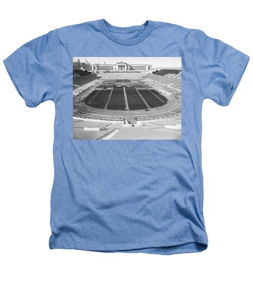 Soldier's Field Boxing Match Heathers T-Shirt by Underwood Archives