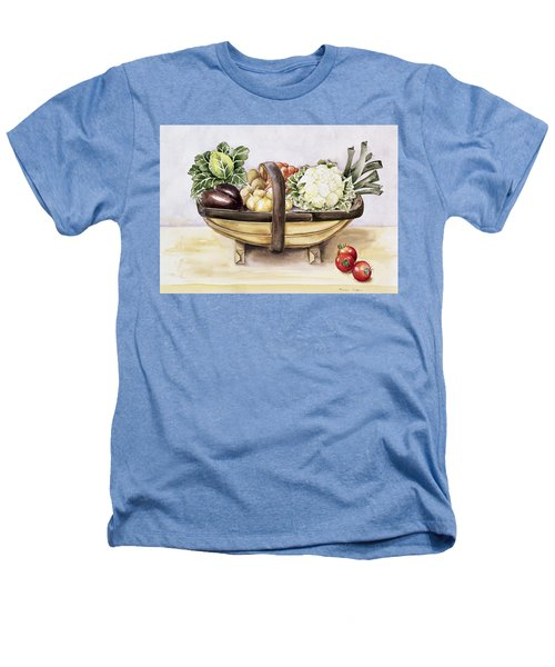 Still Life With A Trug Of Vegetables Heathers T-Shirt by Alison Cooper