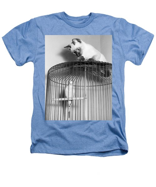 The Parakeet And The Cat Heathers T-Shirt by Underwood Archives