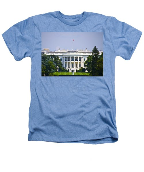 The Whitehouse - Washington Dc Heathers T-Shirt by Bill Cannon