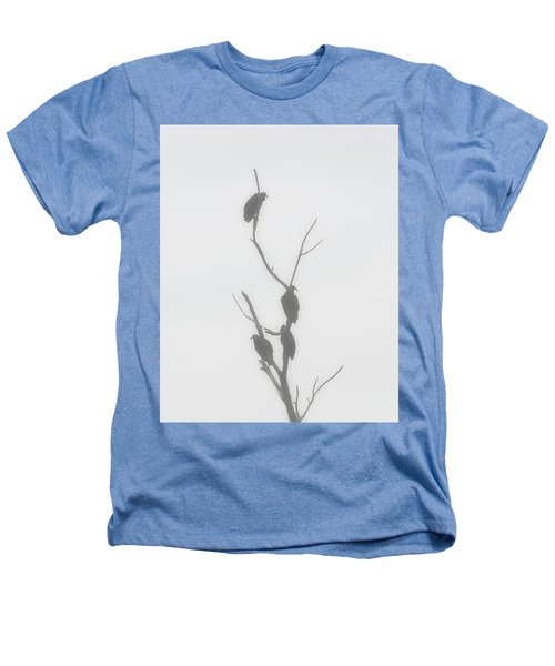 Their Waiting Four Black Vultures In Dead Tree Heathers T-Shirt by Chris Flees