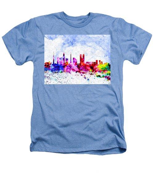 Tokyo Watercolor Heathers T-Shirt by Daniel Janda