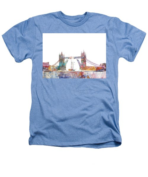 Tower Bridge Colorsplash Heathers T-Shirt by Aimee Stewart