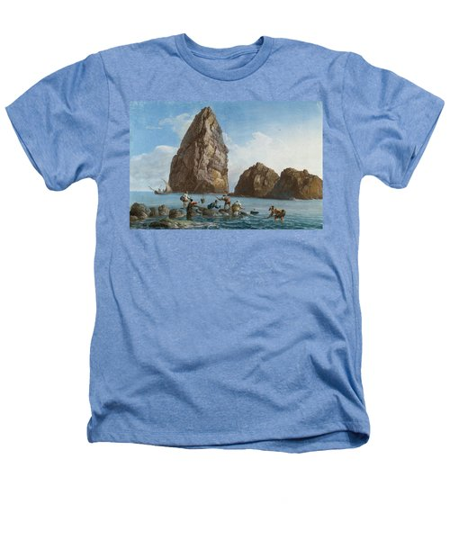 View Of The Rocks On The Third Island Of Cyclops Heathers T-Shirt by Jean-Pierre-Louis-Laurent Houel