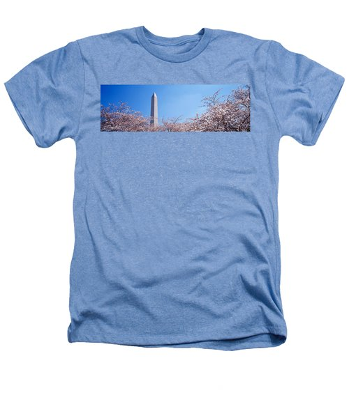 Washington Monument Behind Cherry Heathers T-Shirt by Panoramic Images