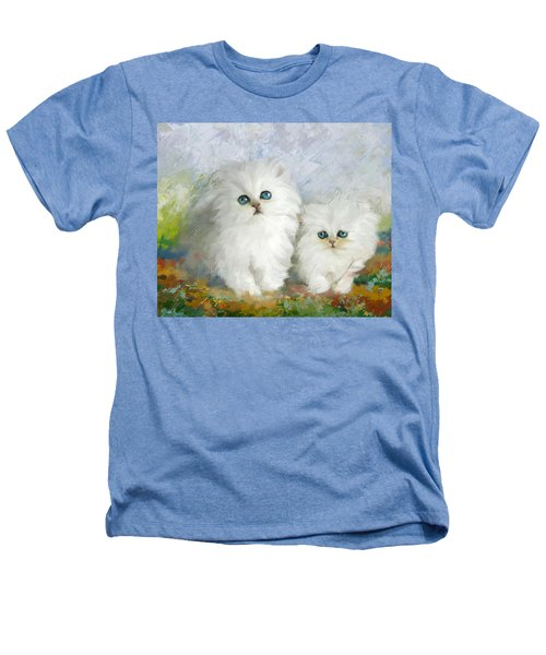 White Persian Kittens  Heathers T-Shirt by Catf