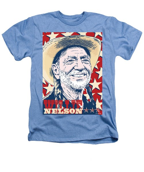 Willie Nelson Pop Art Heathers T-Shirt by Jim Zahniser