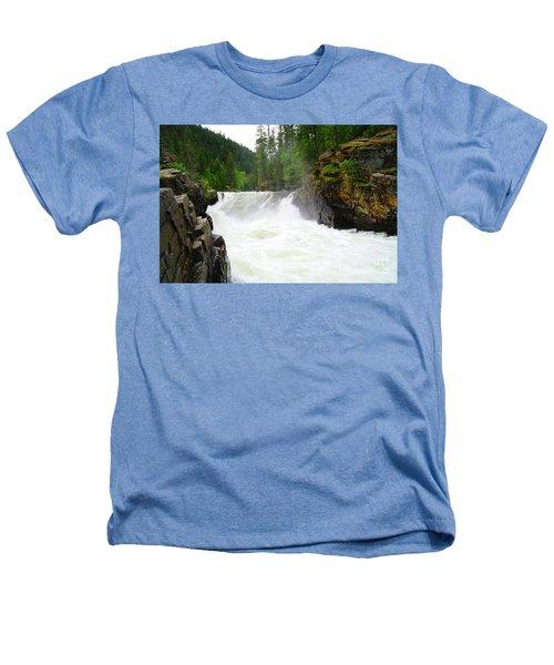 Yaak Falls Heathers T-Shirt by Jeff Swan