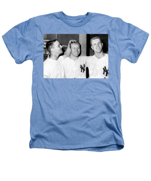 Yankees Celebrate Victory Heathers T-Shirt by Underwood Archives