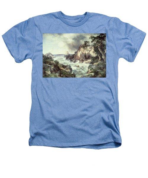 Point Lobos At Monterey In California Heathers T-Shirt by Thomas Moran