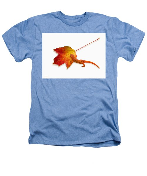 Red Spotted Newt Heathers T-Shirt by Ron Jones