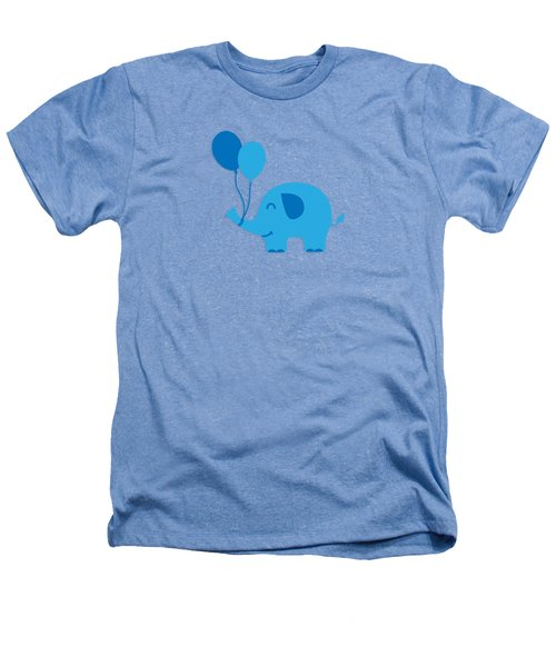 Sweet Funny Baby Elephant With Balloons Heathers T-Shirt by Philipp Rietz
