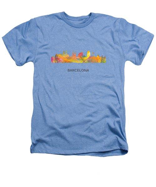 Barcelona Spain Skyline Heathers T-Shirt by Marlene Watson