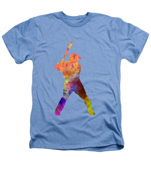 Baseball Player Waiting For A Ball Heathers T-Shirt by Pablo Romero