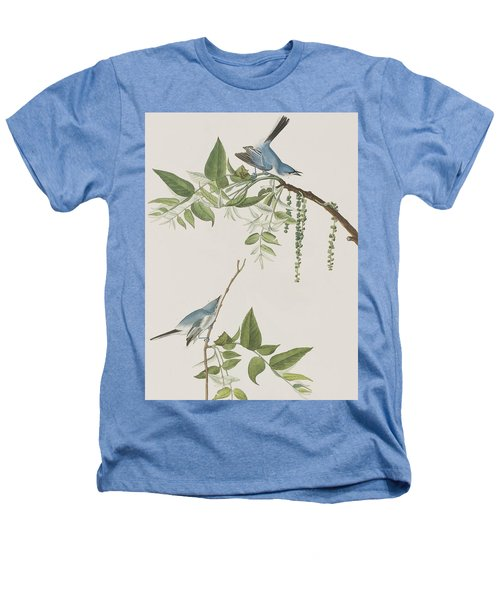 Blue Grey Flycatcher Heathers T-Shirt by John James Audubon