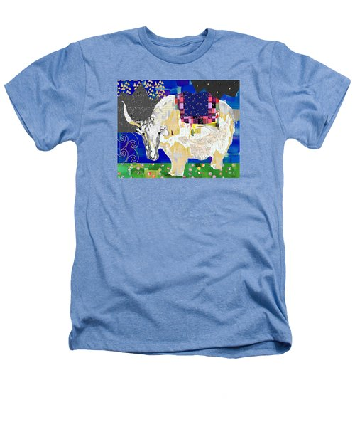 Stay Curious Cow Collage  Heathers T-Shirt by Claudia Schoen
