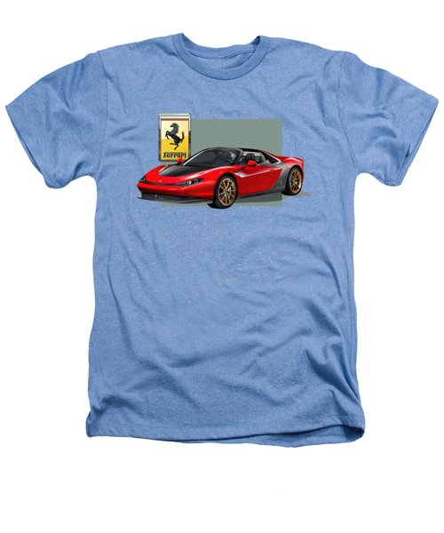 Ferrari Sergio With 3d Badge  Heathers T-Shirt by Serge Averbukh