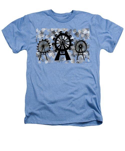 Ferris Wheel - London Eye Heathers T-Shirt by Michal Boubin