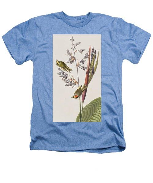 Golden-crested Wren Heathers T-Shirt by John James Audubon