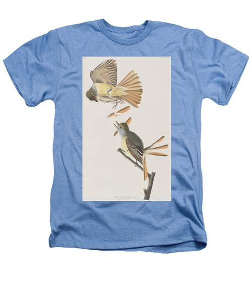 Great Crested Flycatcher Heathers T-Shirt by John James Audubon