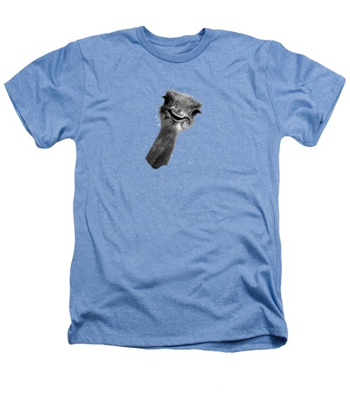 Happy Ostrich Heathers T-Shirt by Jan Carr