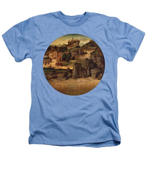 Landscape With Castles Heathers T-Shirt by Bartolomeo Montagna