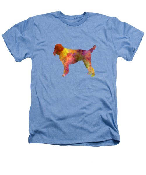 Medium Griffon Vendeen In Watercolor Heathers T-Shirt by Pablo Romero