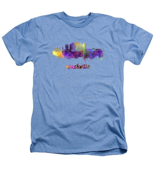 Nashville Skyline In Watercolor Heathers T-Shirt by Pablo Romero