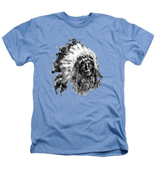 Native American Chief Heathers T-Shirt by Marian Voicu