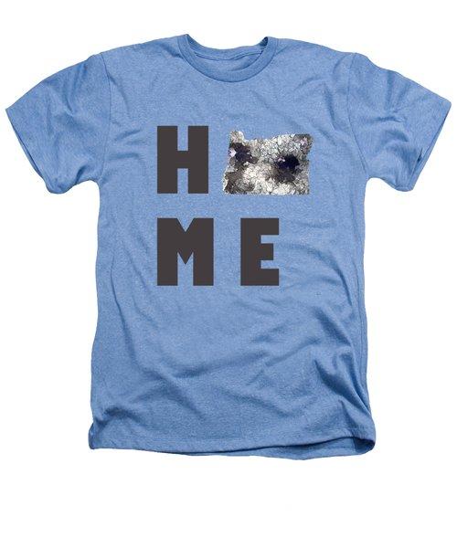Oregon State Map Heathers T-Shirt by Marlene Watson