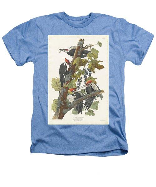 Pileated Woodpecker Heathers T-Shirt by John James Audubon