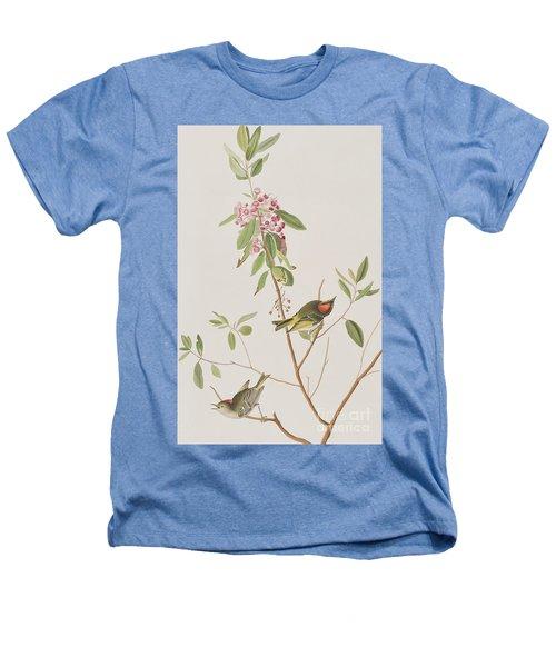 Ruby Crowned Wren Heathers T-Shirt by John James Audubon