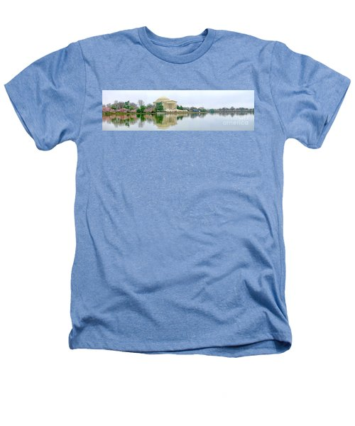 Tidal Basin With Cherry Blossoms Heathers T-Shirt by Jack Schultz